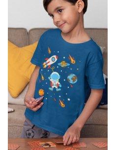 Camiseta Mini Astronauta Azul