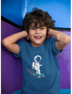 Camiseta Skateboarder Azul