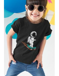 Camiseta Skateboarder Negra
