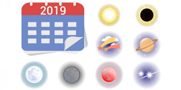 Calendario de Eventos Astronómicos 2019